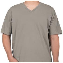 Comfort Colors 100% Cotton V-Neck T-shirt - Color: Grey