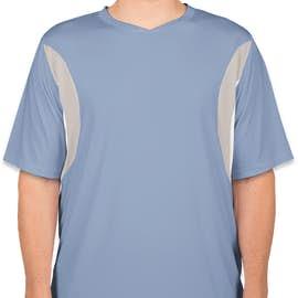 Team 365 Colorblock Performance Jersey - Color: Sport Light Blue / Sport Silver