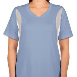 Team 365 Women's Colorblock Performance Jersey - Color: Sport Light Blue / Sport Silver