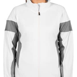 Team 365 Women's Performance Warm-Up Jacket - Color: White / Sport Graphite