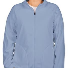 Team 365 Women's Full Zip Microfleece Jacket - Color: Sport Light Blue