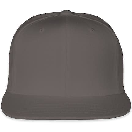 6d3eb4d73c1e0 ... Yupoong Flat Bill Snapback Hat - Color  Dark Grey ...