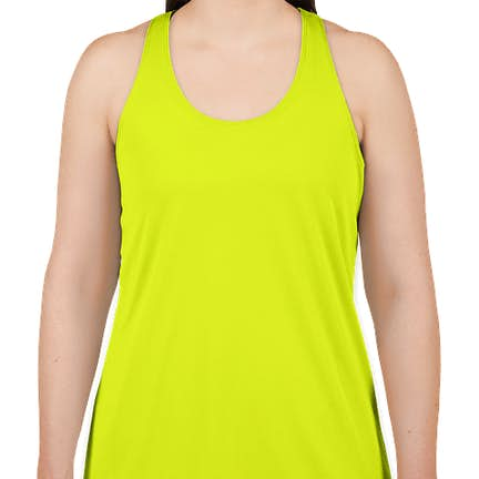 9b5fd10316e97b ... Badger Women s Performance Racerback Tank - Color  Safety Yellow ...