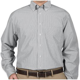 Devon & Jones Banker Stripe Dress Shirt - Color: Navy