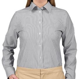 Devon & Jones Women's Banker Stripe Dress Shirt - Color: Navy