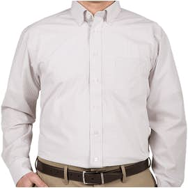 Devon & Jones Gingham Dress Shirt - Color: Silver
