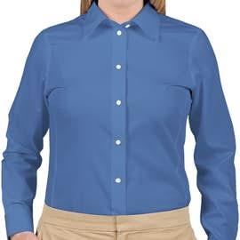 Devon & Jones Women's Solid Dress Shirt - Color: French Blue