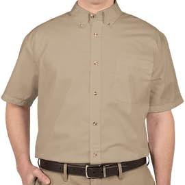 Featherlite Short Sleeve Stain Resistant Twill Shirt - Color: Sandalwood / Stone