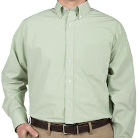 Van Heusen Gingham Dress Shirt - Color: Green Chicory