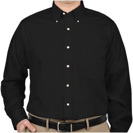 Van Heusen Baby Twill Dress Shirt - Color: Black