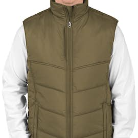 Port Authority Puffy Vest - Color: Olive / Cayenne