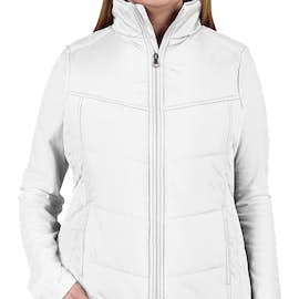 Port Authority Women's Puffy Vest - Color: White / Dark Slate