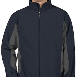 Port Authority Colorblock Soft Shell Jacket - Color: Dress Blue Navy / Battleship Grey