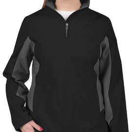 Port Authority Women's Colorblock Soft Shell Jacket - Color: Black / Battleship Grey