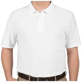 Gildan Dryblend Double Pique Polo - Color: White