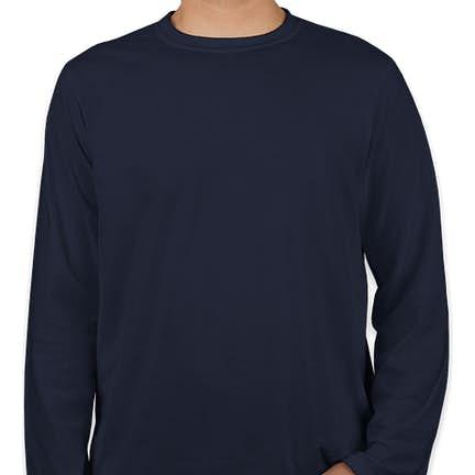 46e25093c27 ... Canada - Gildan Softstyle Long Sleeve Jersey T-shirt - Color  Navy ...