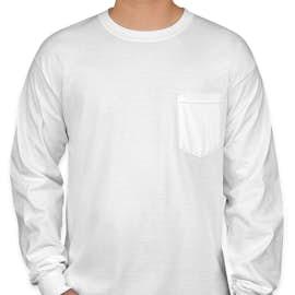 Canada - Gildan Ultra Cotton Long Sleeve Pocket T-shirt - Color: White