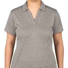 Sport-Tek Women's Heather Performance Polo - Screen Printed - Color: Vintage Heather