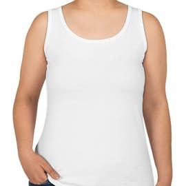 Anvil Women's Jersey Tank - Color: White