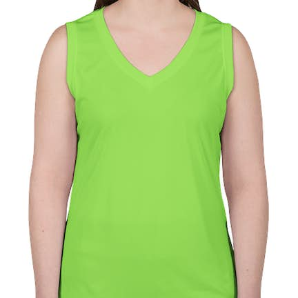 228ad839ab765c ... Canada - ATC Women s Competitor Performance Sleeveless Shirt - Color  Lime  Shock ...