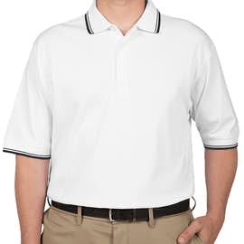 Canada - Devon & Jones Tipped Pima Interlock Polo - Color: White / Navy