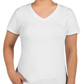 Anvil Women's Jersey V-Neck T-shirt - Color: White