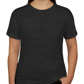 Bella + Canvas Women's Tri-Blend T-shirt - Color: Charcoal Black Tri-Blend