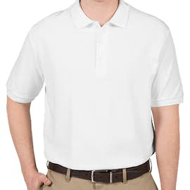 Canada - Gildan Double Pique Polo - Color: White