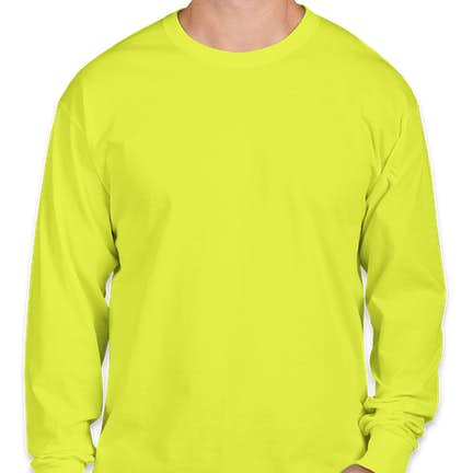 0b01befbd669 ... Fruit of the Loom 100% Cotton Long Sleeve T-shirt - Color: Safety ...