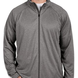 Devon & Jones Heather Performance Full Zip - Color: Dark Grey Heather