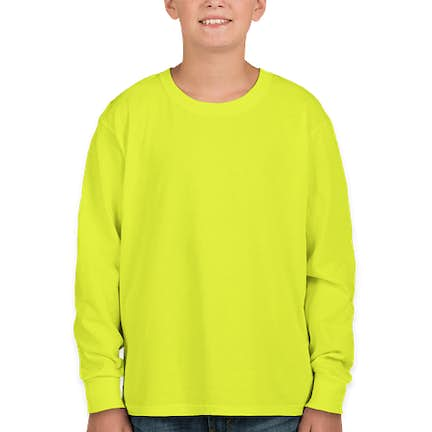 f0e50de7c382 ... Fruit of the Loom Youth 100% Cotton Long Sleeve T-shirt - Color: ...