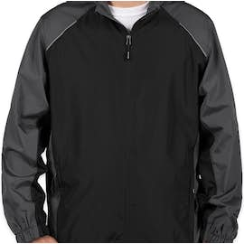 Core 365 Colorblock Lightweight Full Zip Jacket - Color: Black / Carbon