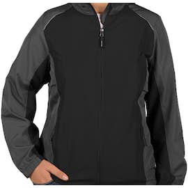 Core 365 Women's Colorblock Lightweight Full Zip Jacket - Color: Black / Carbon