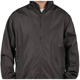 Port Authority Core Colorblock Full Zip Jacket - Color: Battleship Grey / Black