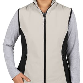 North End Women's Soft Shell Vest - Color: Natural Stone