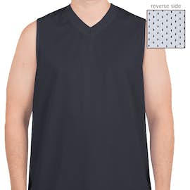 Teamwork Fadeaway Reversible Mesh Basketball Jersey - Color: Navy / White