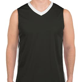 Augusta Colorblock Basketball Jersey - Color: Slate / White