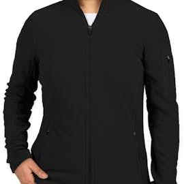 Port Authority Women's Colorblock Full Zip Microfleece Jacket - Color: Black / Black