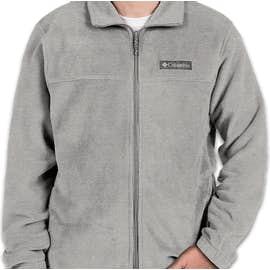Columbia Steens Mountain Full Zip Fleece Jacket - Color: Light Grey