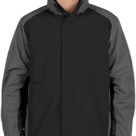 Core 365 Colorblock Fleece Lined All-Season Jacket - Color: Black / Carbon
