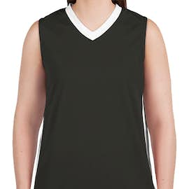 Augusta Women's Colorblock Basketball Jersey - Color: Slate / White