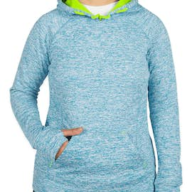 J. America Women's Cosmic Performance Pullover Hoodie - Color: Electric Blue / Neon Green