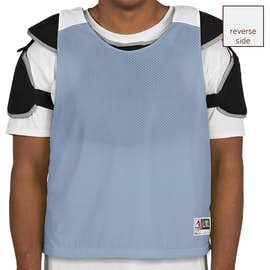 Augusta Reversible Colorblock Practice Pinnie - Color: Columbia Blue / White