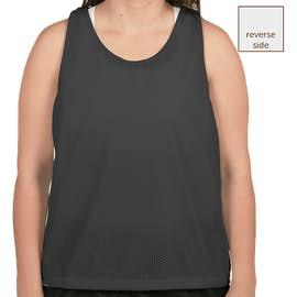 Augusta Women's Reversible Colorblock Practice Pinnie - Color: Black / White