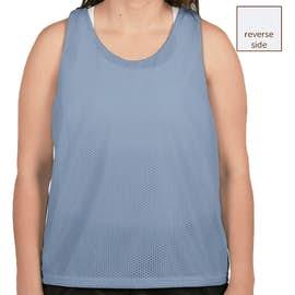 Augusta Women's Reversible Colorblock Practice Pinnie - Color: Columbia Blue / White