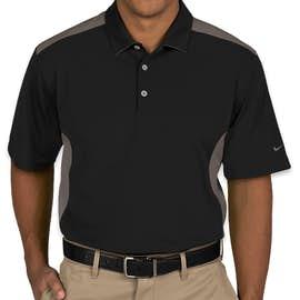 Nike Golf Dri-FIT Mesh Colorblock Performance Polo - Color: Black / Dark Grey