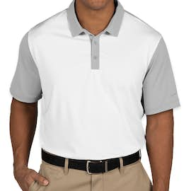 Nike Golf Dri-FIT Colorblock Icon Performance Polo - Color: White / Wolf Grey