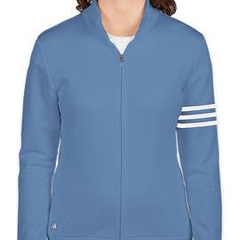 Adidas Women's ClimaLite Full Zip Performance Sweatshirt - Color: Oasis / White
