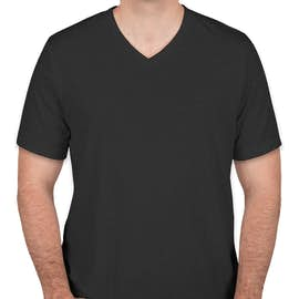 Bella + Canvas Tri-Blend V-Neck T-shirt - Color: Charcoal Black Tri-Blend