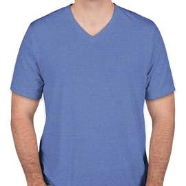 Bella + Canvas Tri-Blend V-Neck T-shirt - Color: Blue Tri-Blend